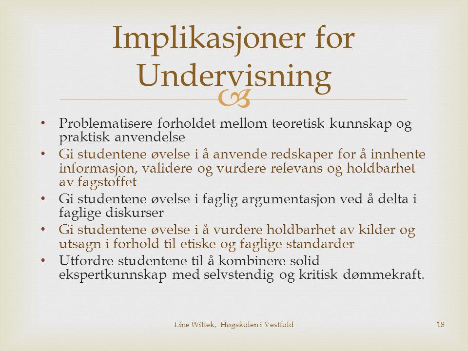Implikasjoner for Undervisning