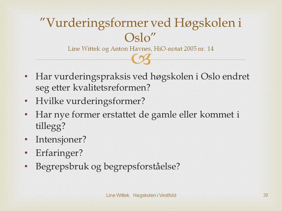 Line Wittek, Høgskolen i Vestfold