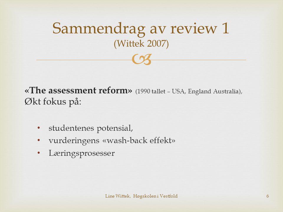 Sammendrag av review 1 (Wittek 2007)