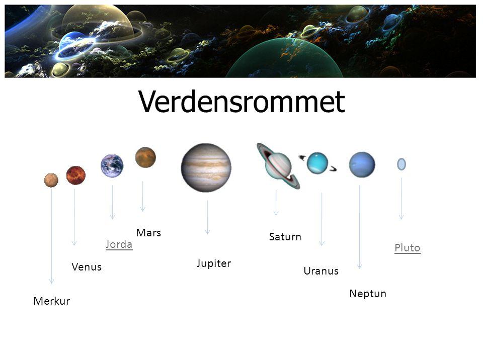 Verdensrommet Mars Saturn Jorda Pluto Jupiter Venus Uranus Neptun