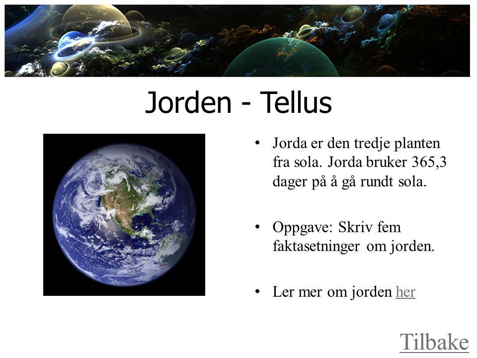 Jorden - Tellus Tilbake