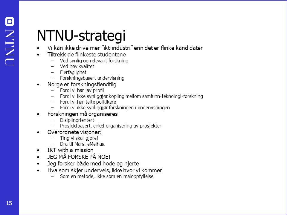 NTNU-strategi Vi kan ikke drive mer ikt-industri enn det er flinke kandidater. Tiltrekk de flinkeste studentene.