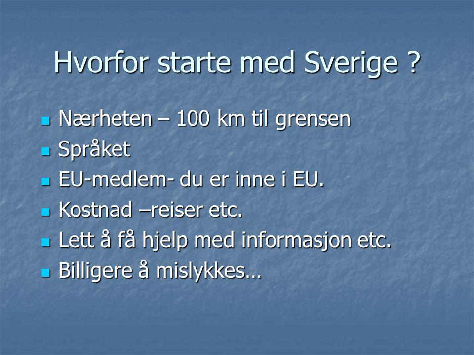 Hvorfor starte med Sverige
