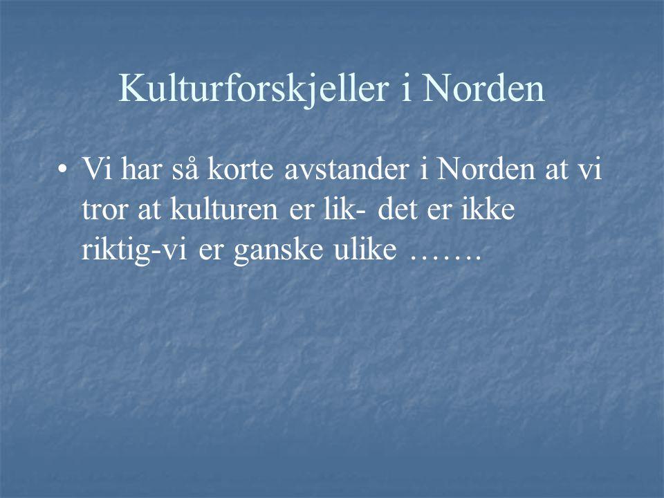 Kulturforskjeller i Norden