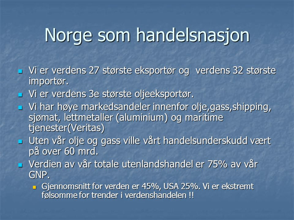 Norge som handelsnasjon