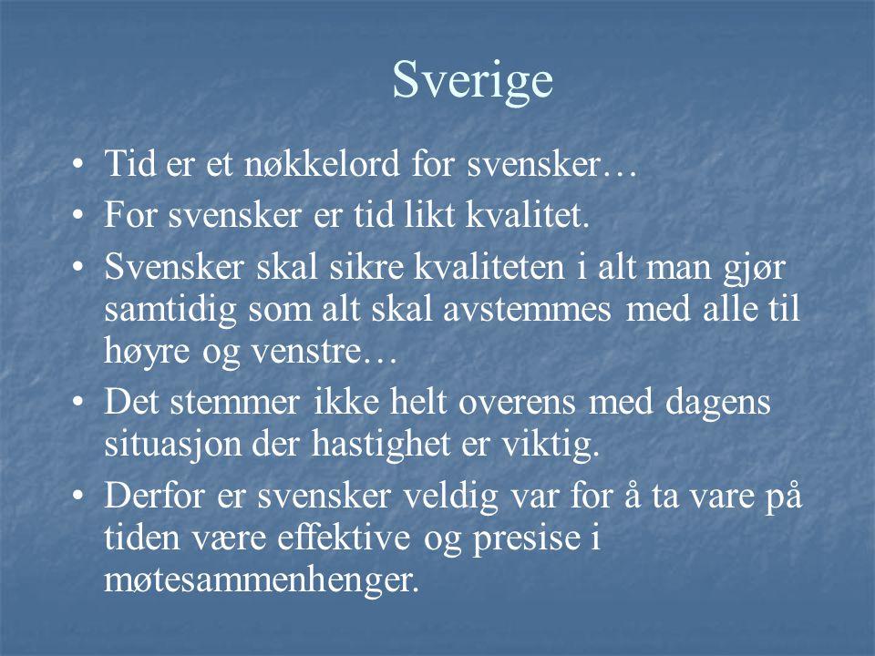 Sverige Tid er et nøkkelord for svensker…