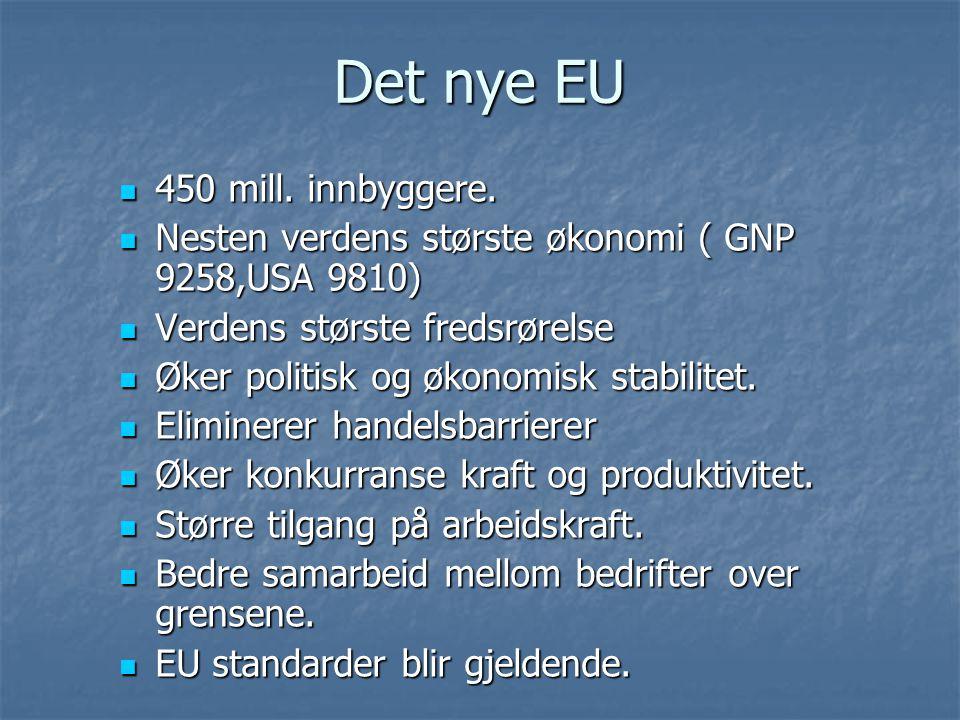 Det nye EU 450 mill. innbyggere.