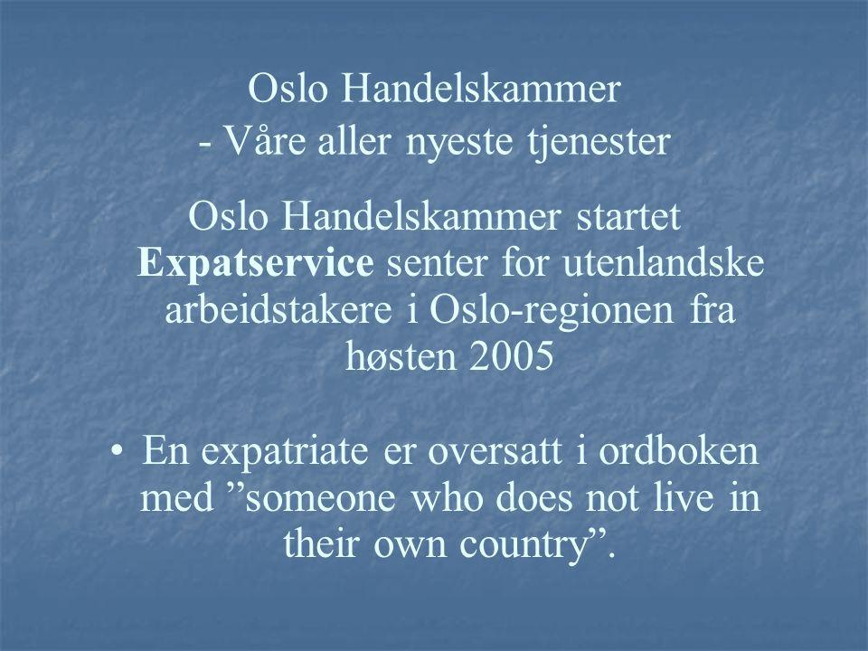 Oslo Handelskammer - Våre aller nyeste tjenester