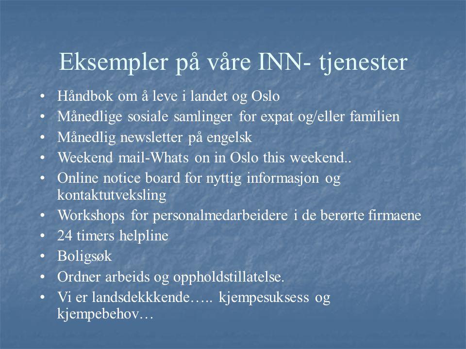 Eksempler på våre INN- tjenester