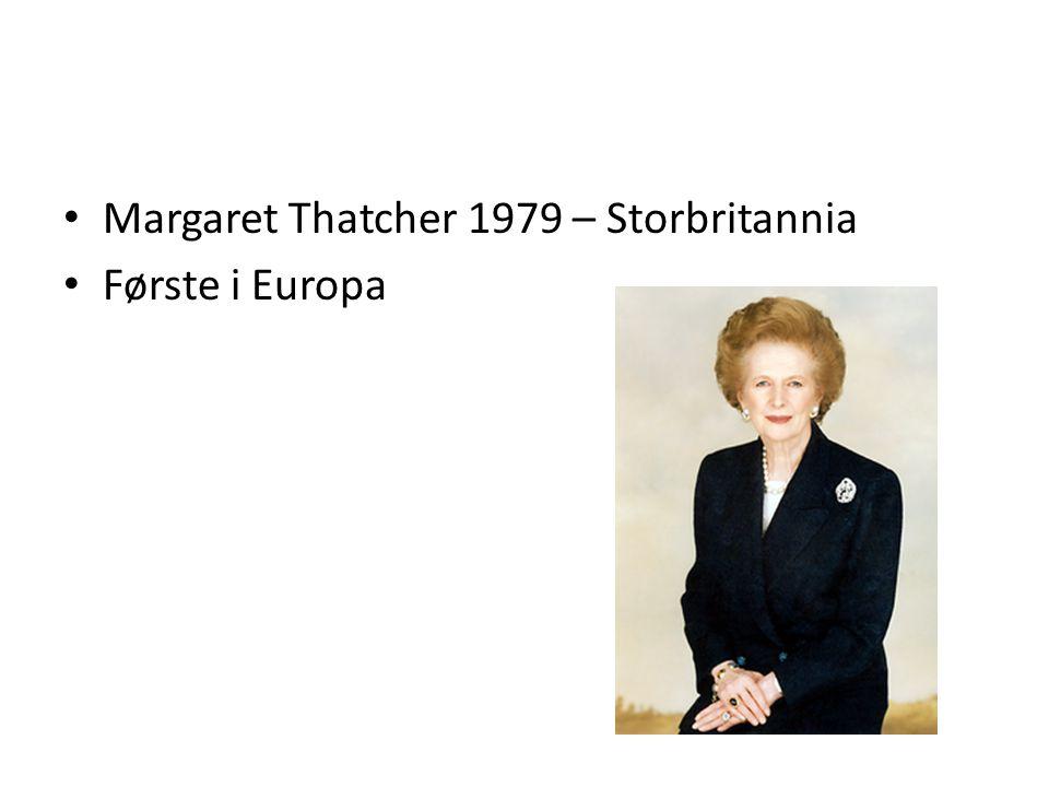 Margaret Thatcher 1979 – Storbritannia