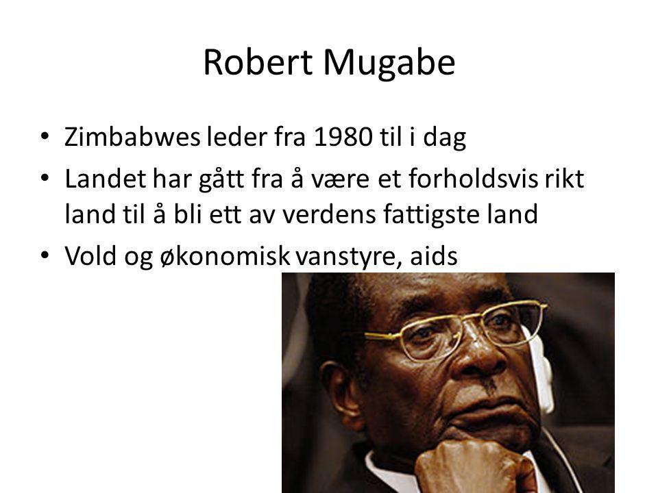 Robert Mugabe Zimbabwes leder fra 1980 til i dag