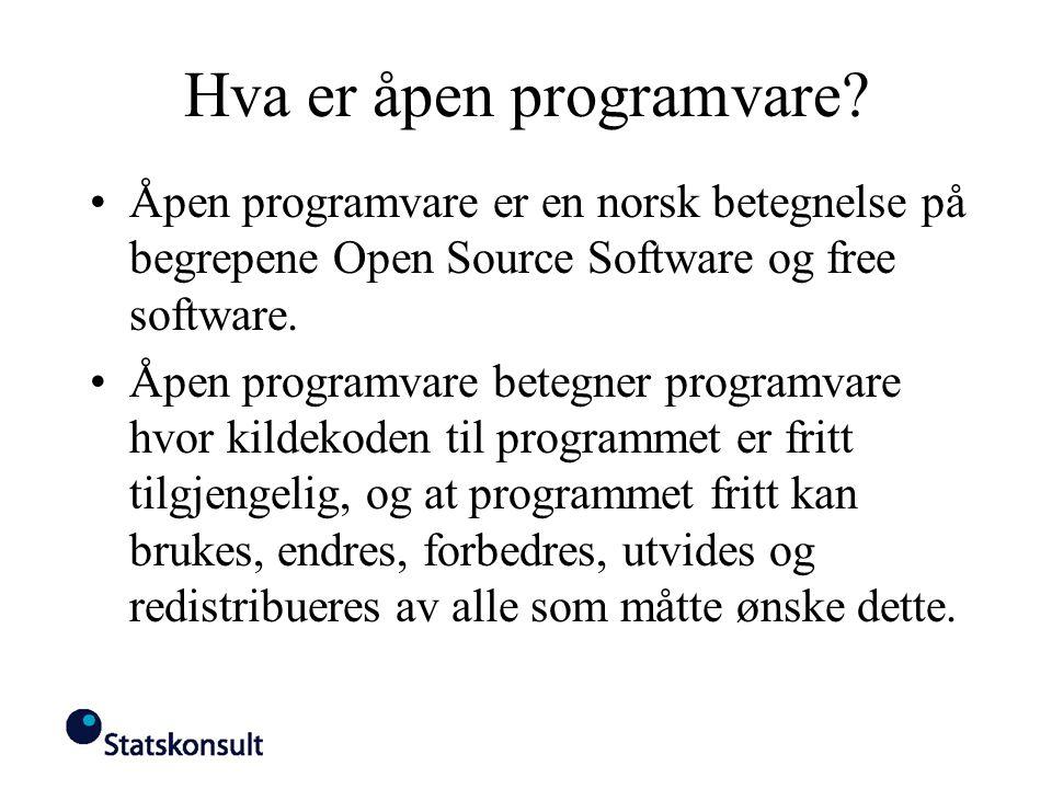 Hva er åpen programvare