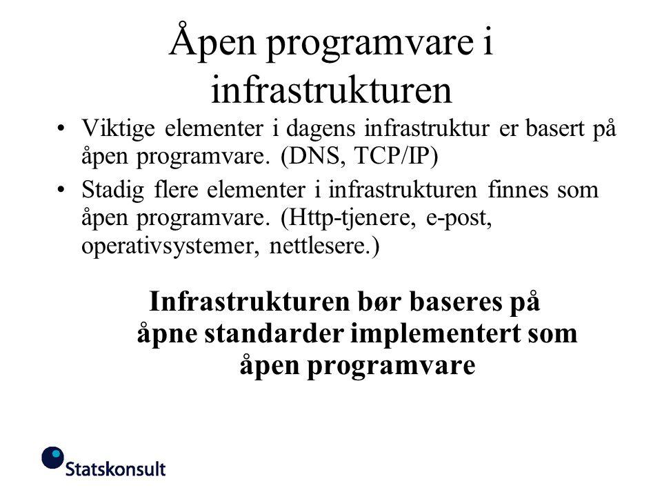 Åpen programvare i infrastrukturen
