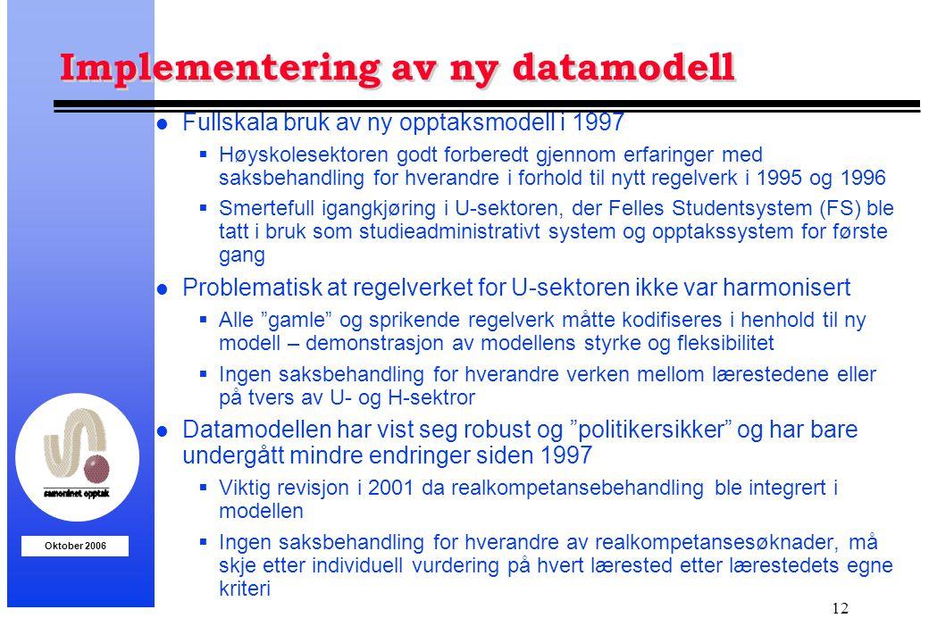 Implementering av ny datamodell