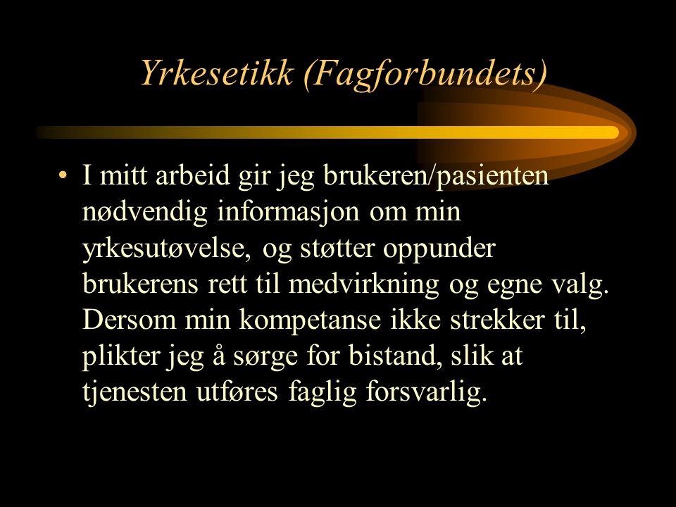 Yrkesetikk (Fagforbundets)