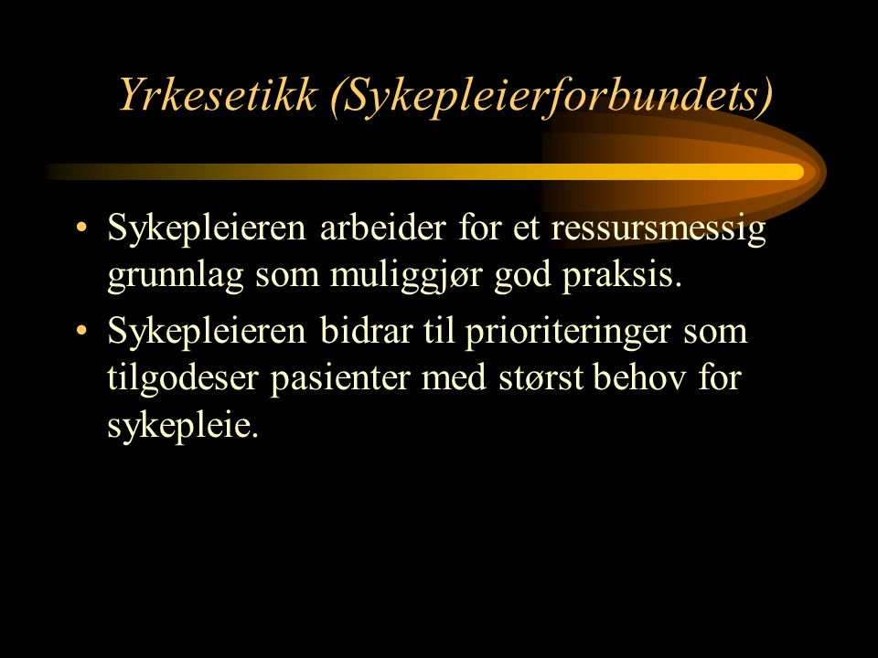 Yrkesetikk (Sykepleierforbundets)