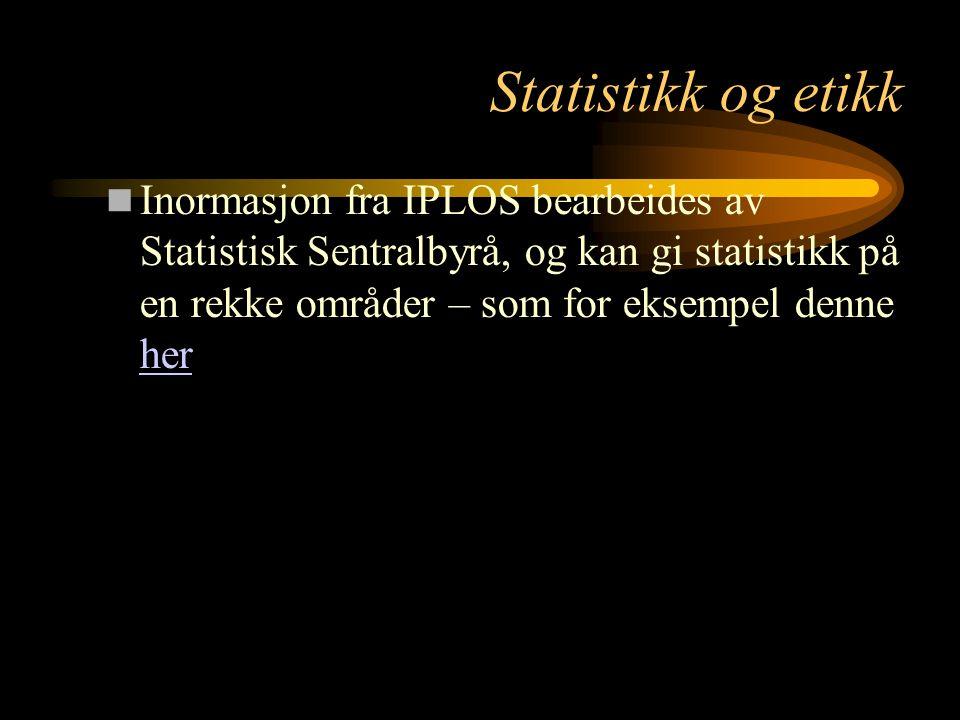 Statistikk og etikk