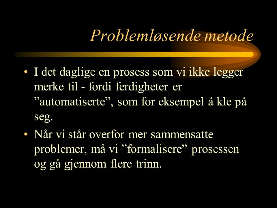 Problemløsende metode