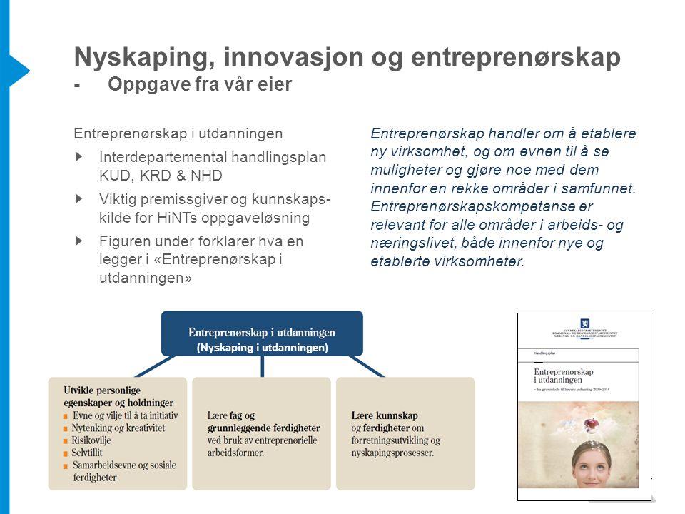 Nyskaping, innovasjon og entreprenørskap - Oppgave fra vår eier