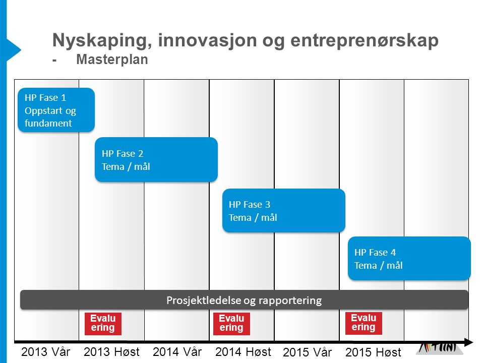 Nyskaping, innovasjon og entreprenørskap - Masterplan
