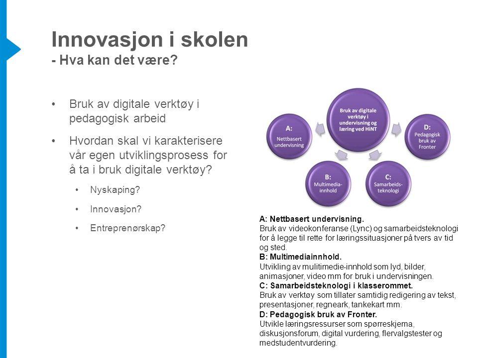 Innovasjon i skolen - Hva kan det være