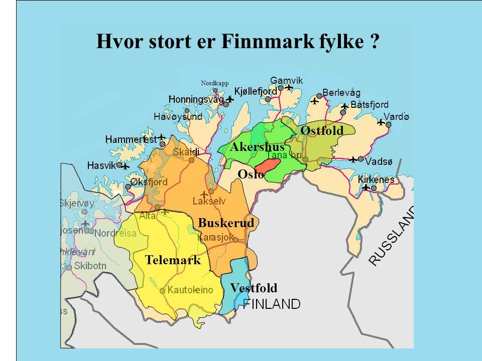 Hvor stort er Finnmark fylke