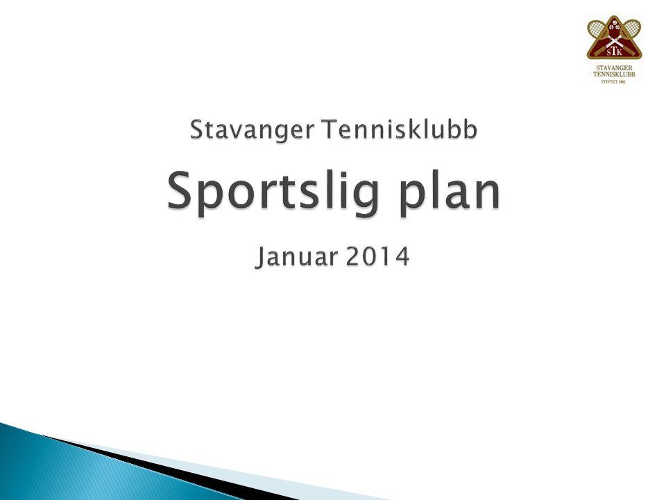 Stavanger Tennisklubb Sportslig plan Januar 2014