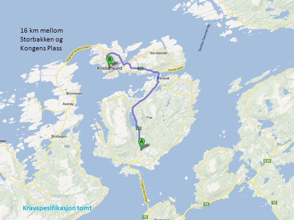 16 km mellom Storbakken og Kongens Plass Kravspesifikasjon tomt