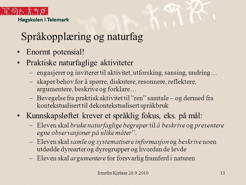 Språkopplæring og naturfag