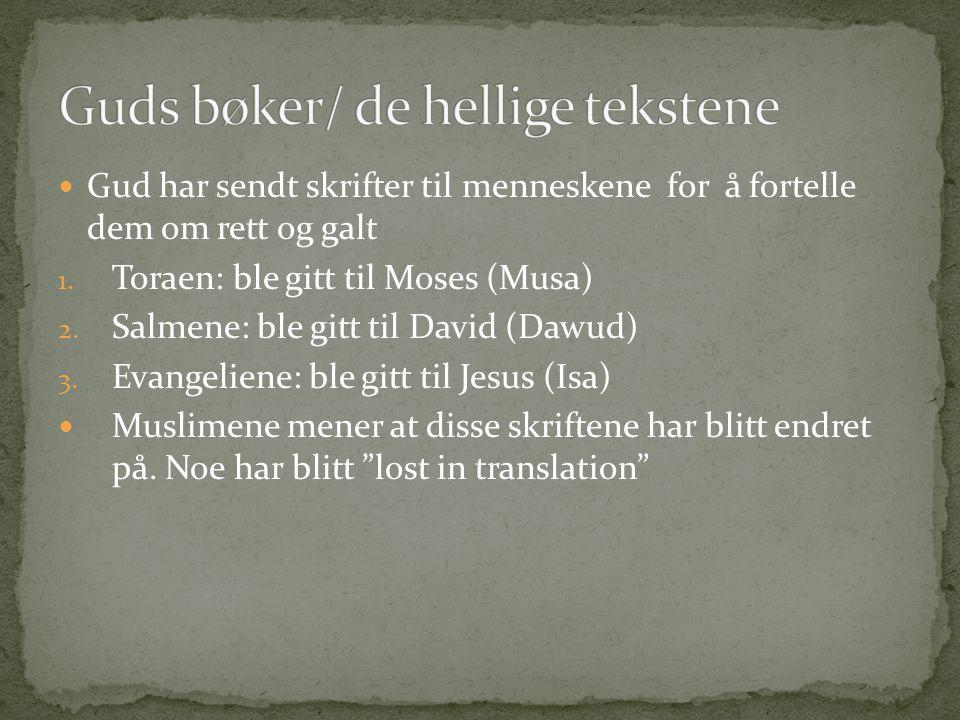 Guds bøker/ de hellige tekstene