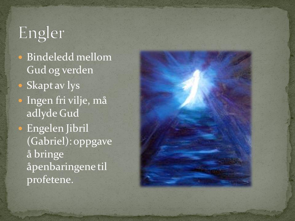 Engler Bindeledd mellom Gud og verden Skapt av lys