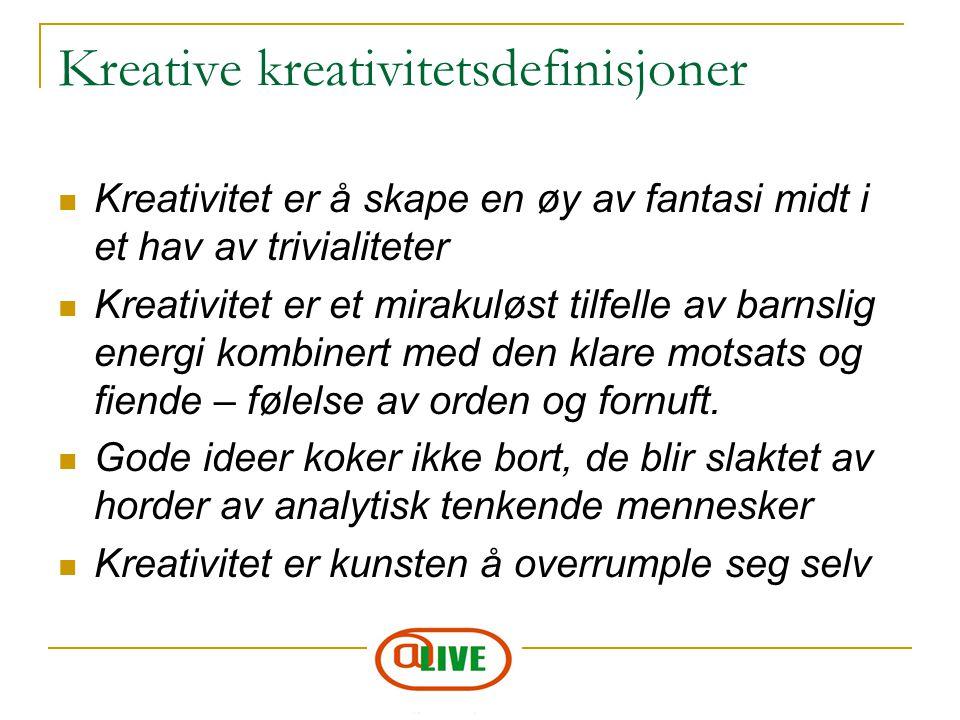 Kreative kreativitetsdefinisjoner