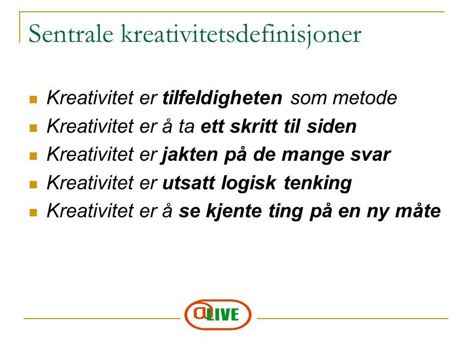 Sentrale kreativitetsdefinisjoner