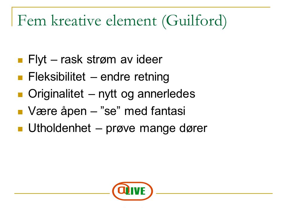 Fem kreative element (Guilford)