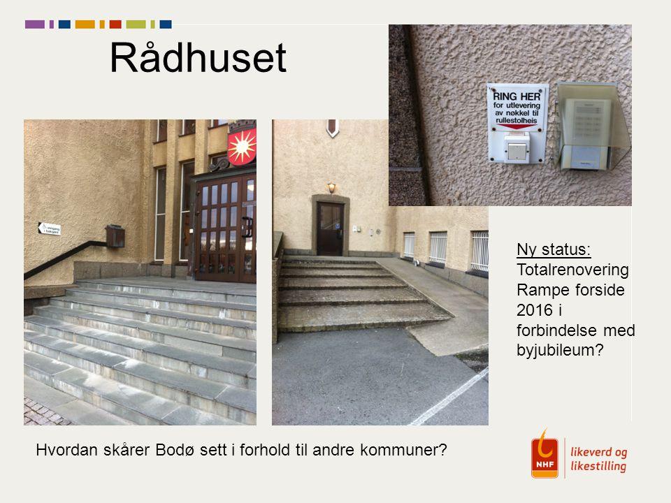 Rådhuset Ny status: Totalrenovering Rampe forside