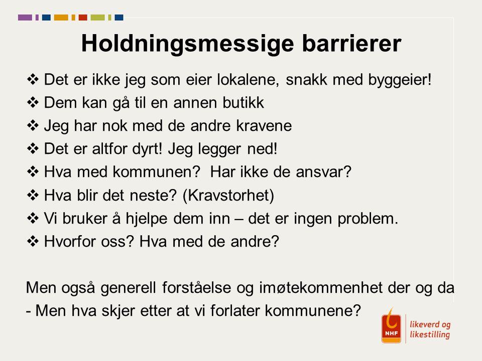 Holdningsmessige barrierer