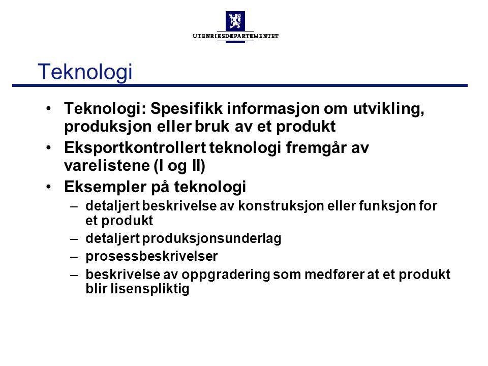 Teknologi Teknologi: Spesifikk informasjon om utvikling, produksjon eller bruk av et produkt.