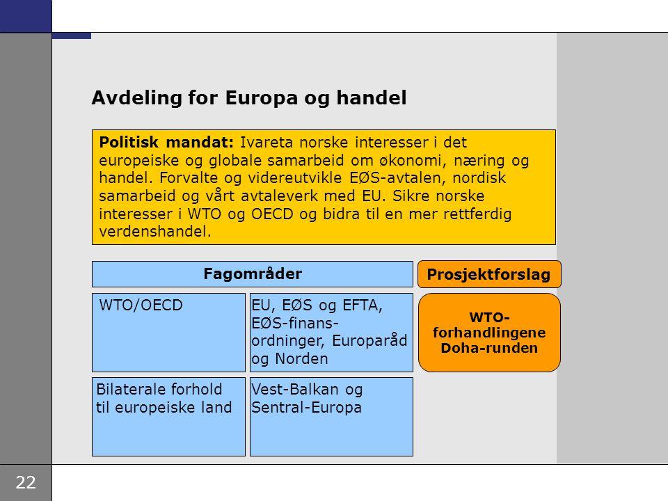 Avdeling for Europa og handel