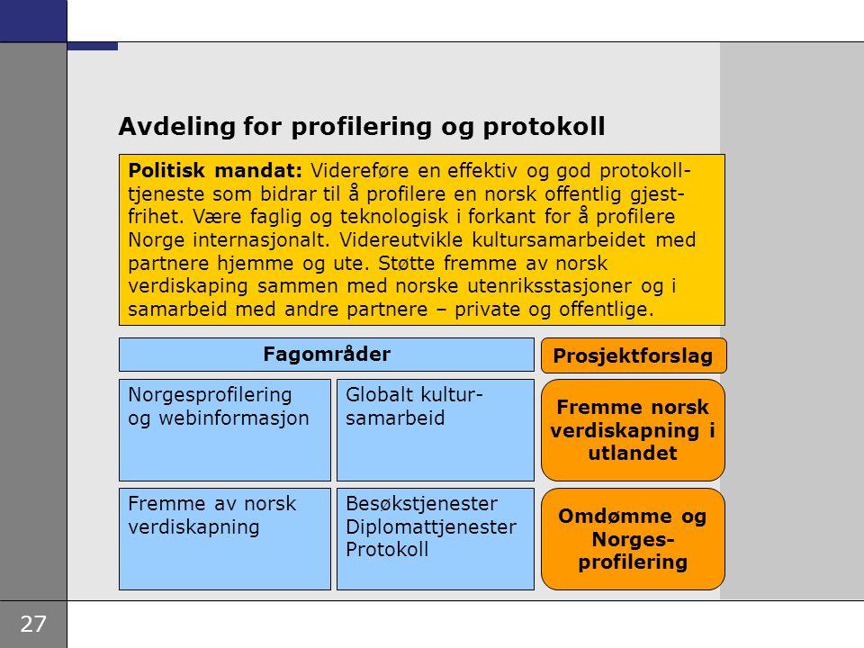 Avdeling for profilering og protokoll