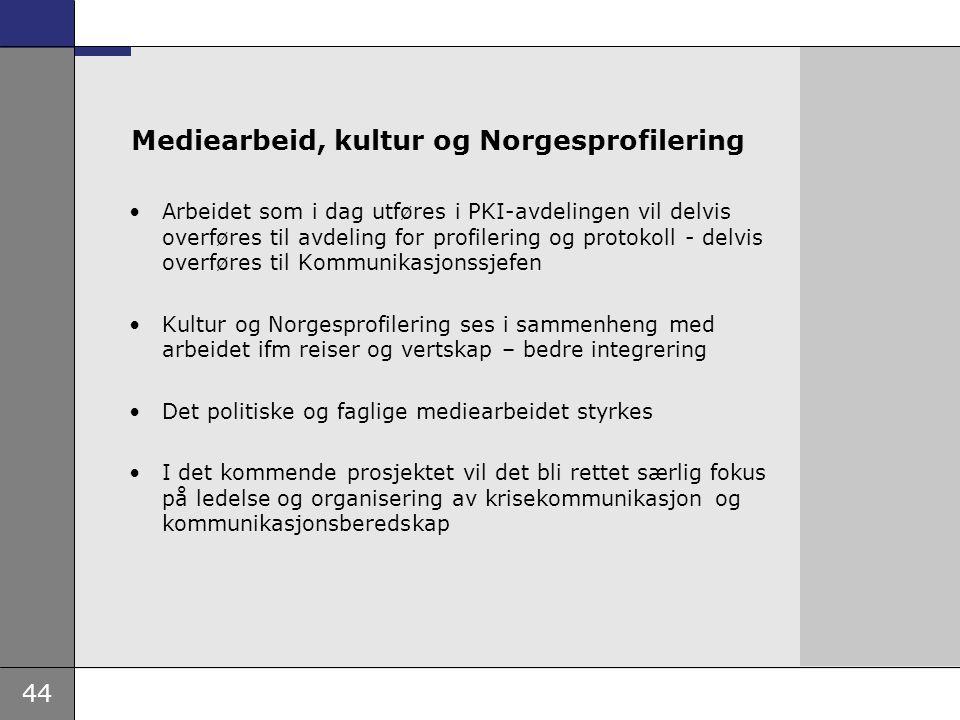 Mediearbeid, kultur og Norgesprofilering