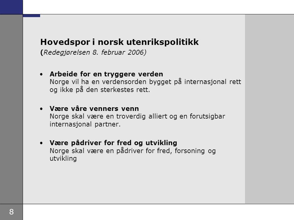 Hovedspor i norsk utenrikspolitikk (Redegjørelsen 8. februar 2006)