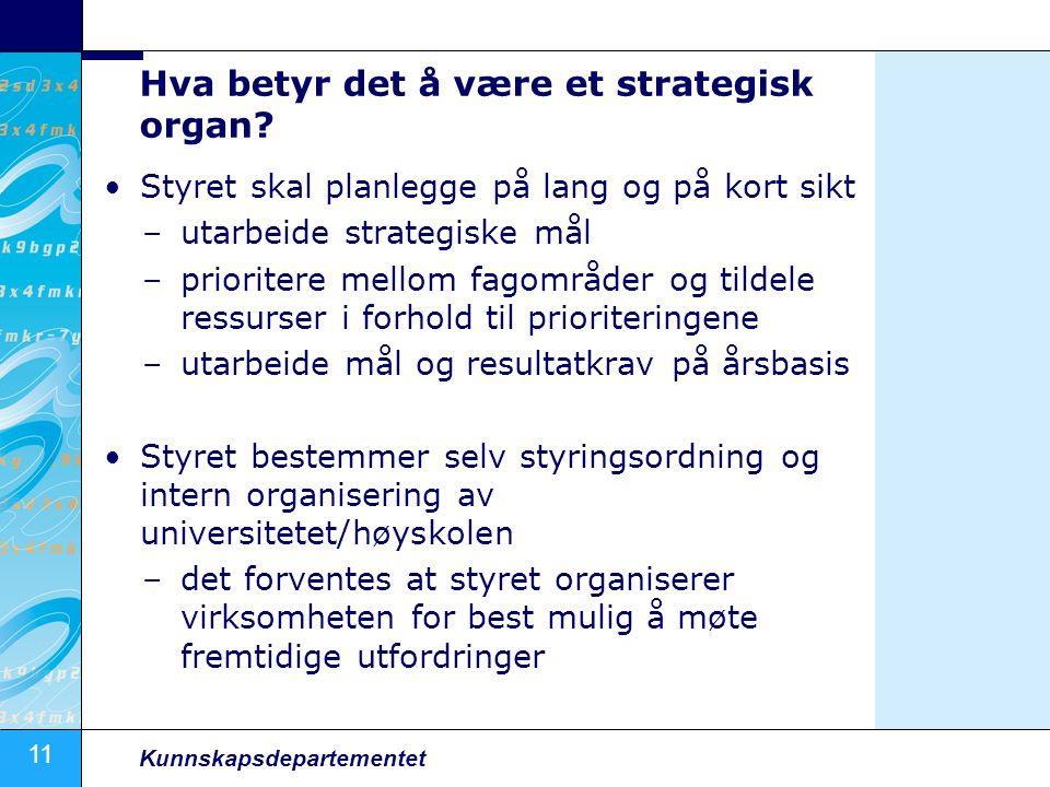 Hva betyr det å være et strategisk organ