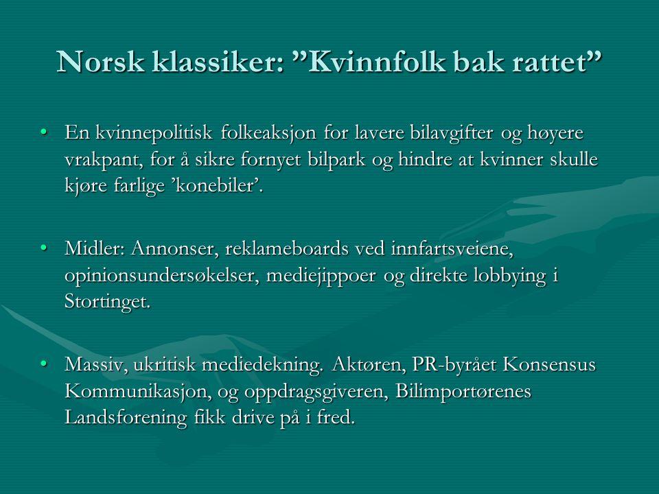 Norsk klassiker: Kvinnfolk bak rattet