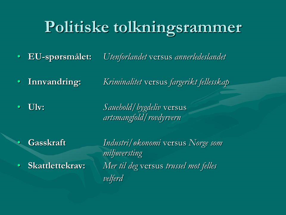 Politiske tolkningsrammer