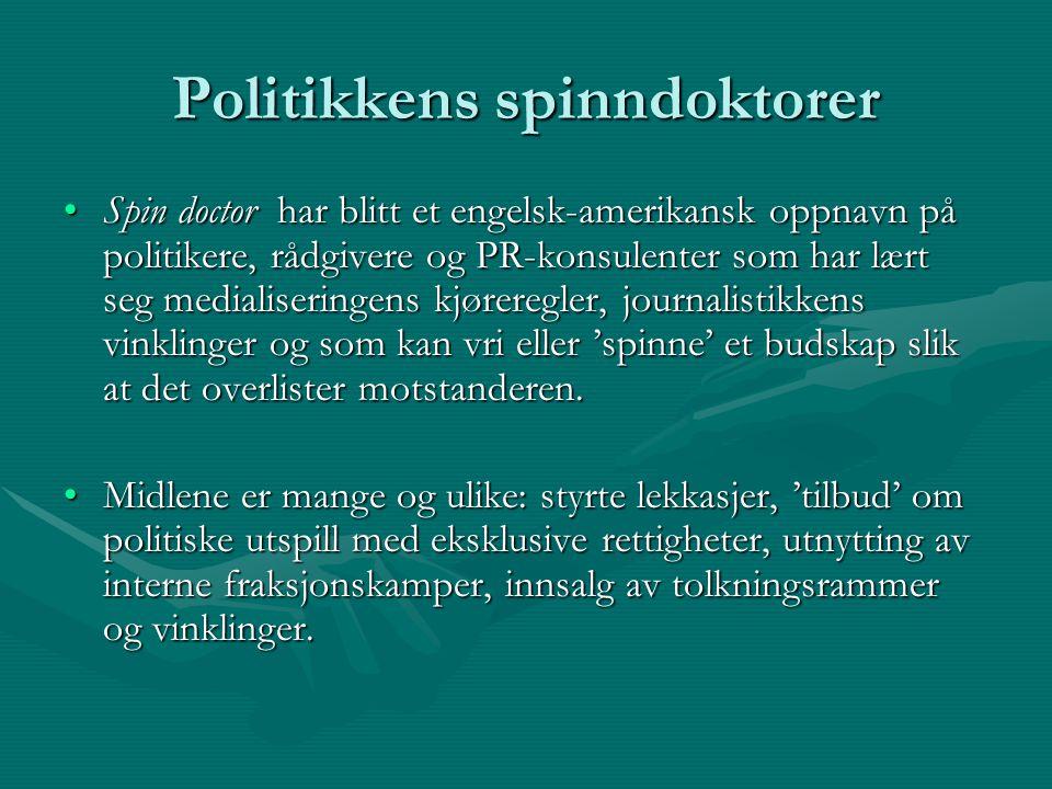 Politikkens spinndoktorer