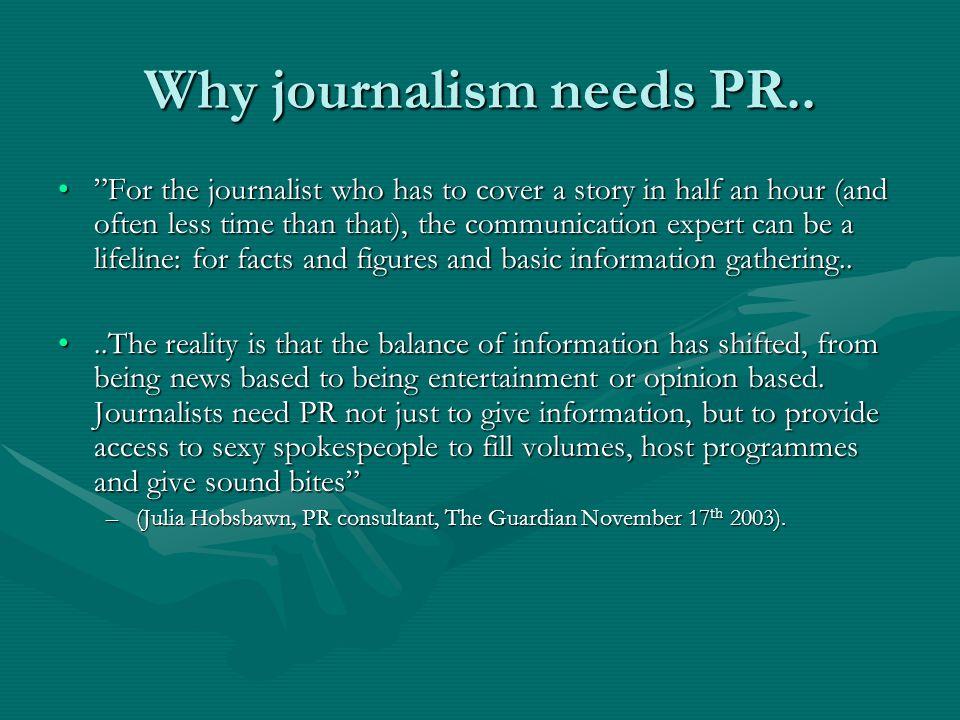 Why journalism needs PR..