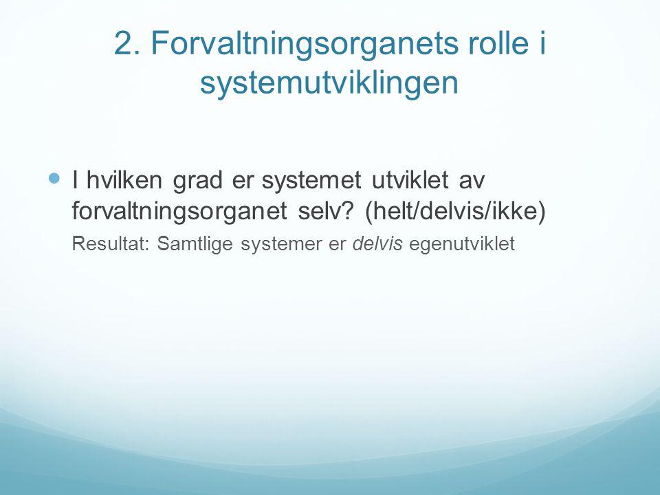 2. Forvaltningsorganets rolle i systemutviklingen