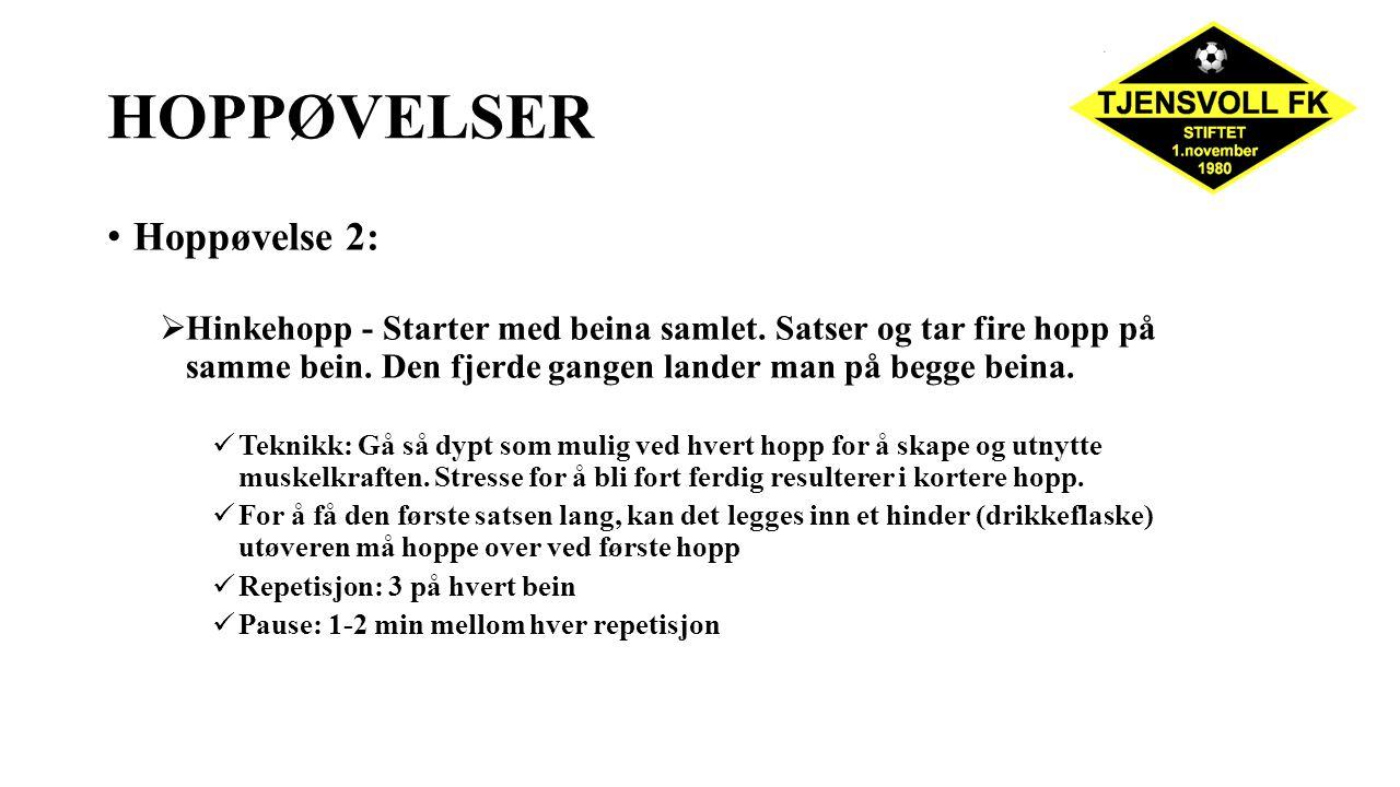 HOPPØVELSER Hoppøvelse 2: