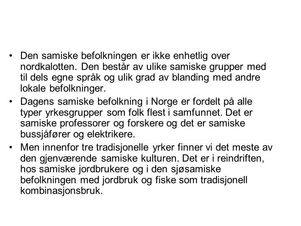 Den samiske befolkningen er ikke enhetlig over nordkalotten