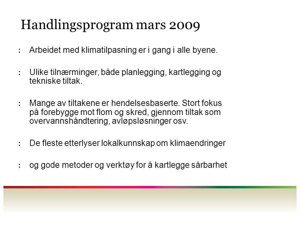 Handlingsprogram mars 2009
